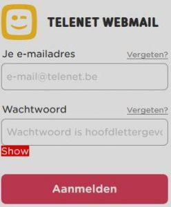 Inloggen Telenet webmail